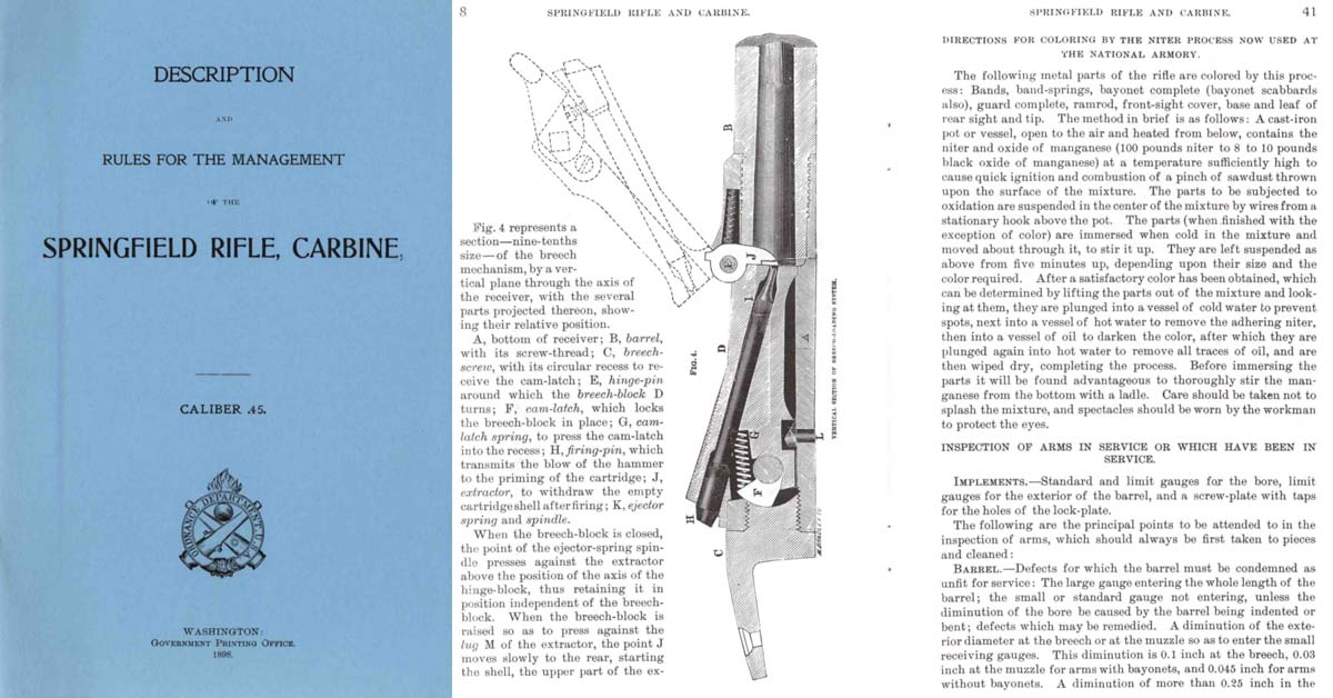 Springfield Rifle, Carbine Cal .45 Description and Rules