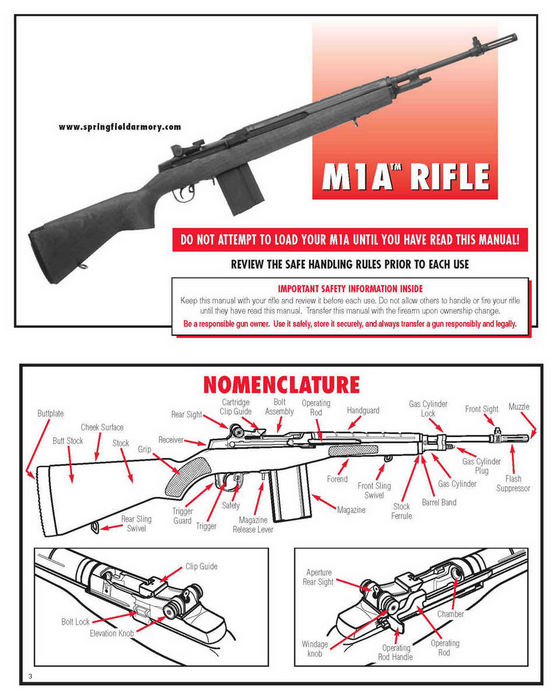 Springfield Armory M1A Rifle Manual