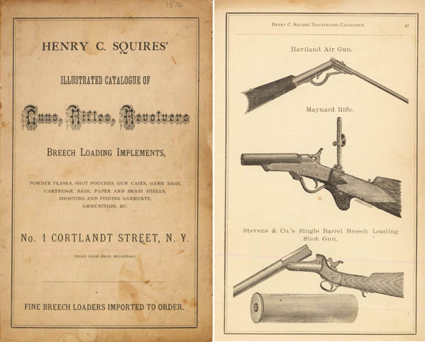 Squires 1876 Catalog of Guns and Implements