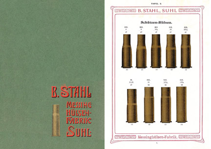 Stahl, B. c1905 Messing Hulsen Fabrik, Munitions, Suhl, Germany
