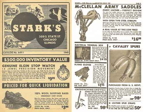 Stark's 1949 Surplus Goods Catalog