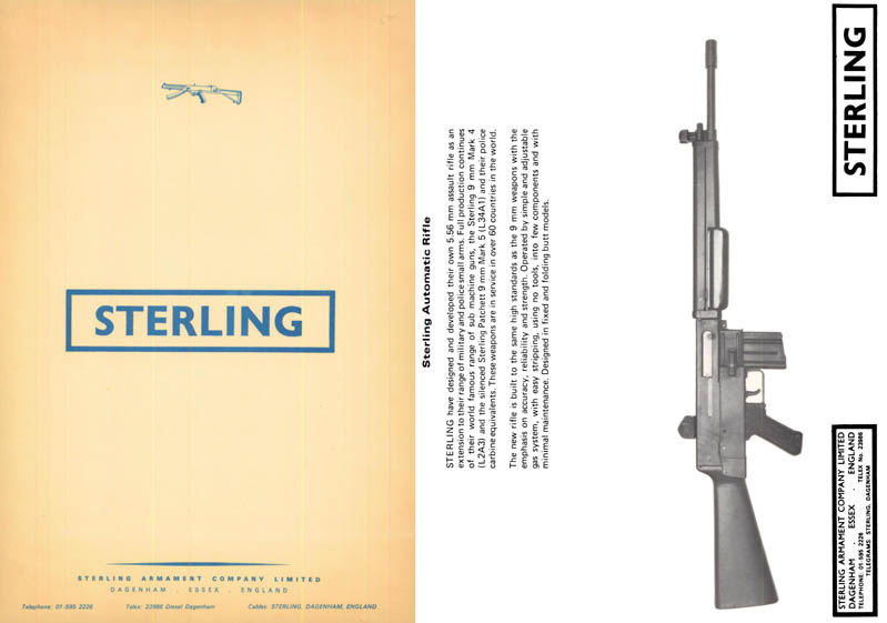Sterling Armament Co c1973 Military Gun Catalogue (UK)