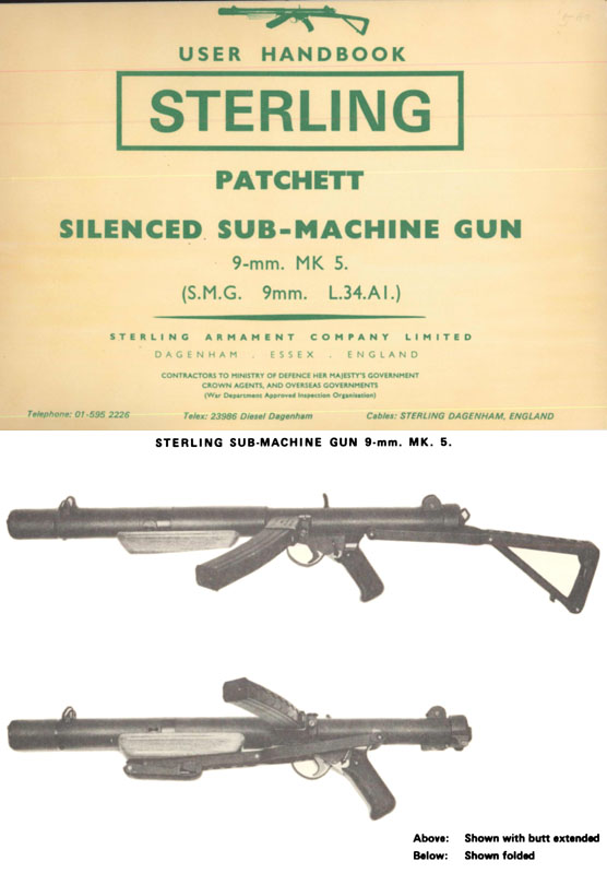 Sterling Patchett Silenced MK5 SMG 9mm L.34.AI Manual (UK)