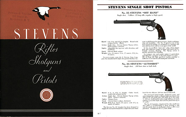 Stevens 1934 (late) Gun Catalog No.60