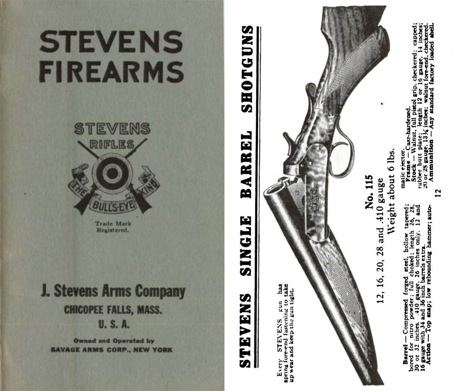 Stevens c1925 Firearms Catalog