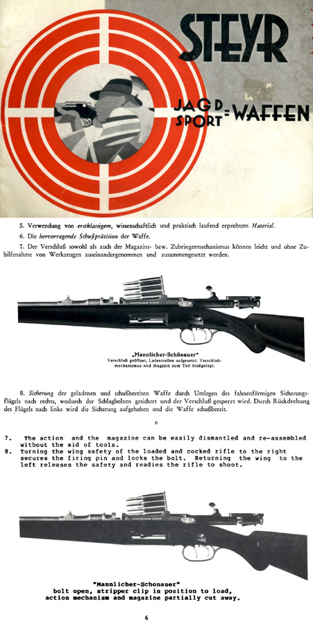 Steyr-Mannlicher Schoenauer Repeating Sporting Rifles 1935 (with English Translation)