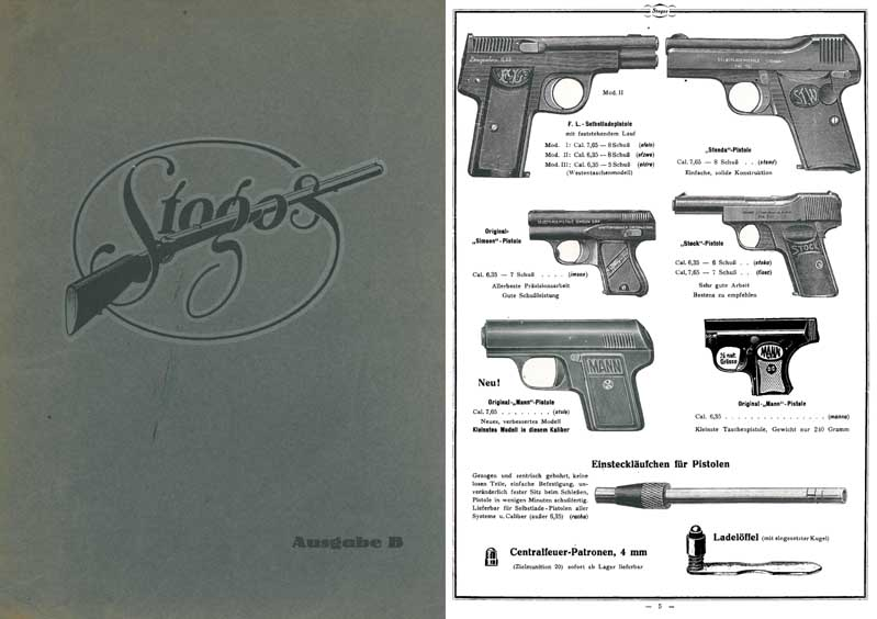 Stotz and Goessl c1925 Munitions Catalog Suhl, Germany