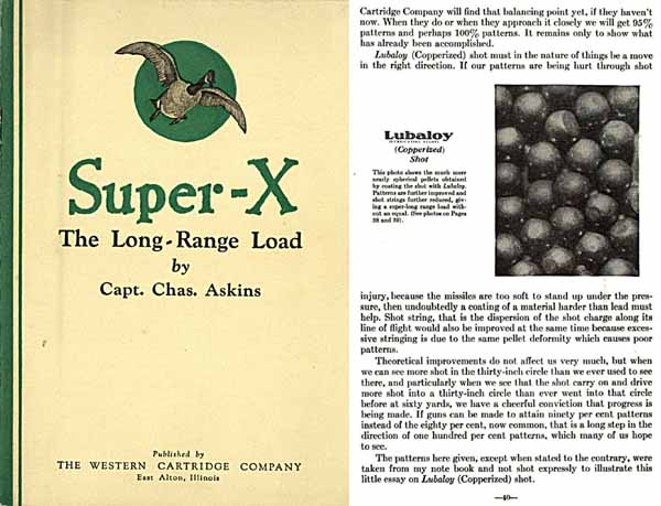 Super X – 1927 Askins- A discussion of long range loads for 10, 12, 20 and 410 gauge shotguns