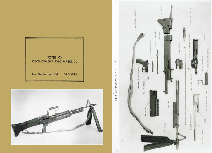 Bridge Tool & Die, Phila, PA- T52E3 1957 Light Machine Gun Notes on Dev. (U.S. Ord Dept)