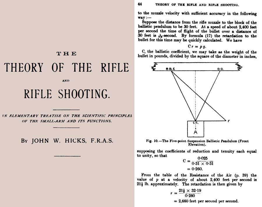 The Theory of the Rifle & Rifle Shooting 1919, John Hicks, London