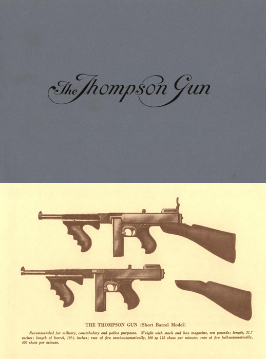 Thompson c1925 Guns - Models 1921 & 1923 Catalog