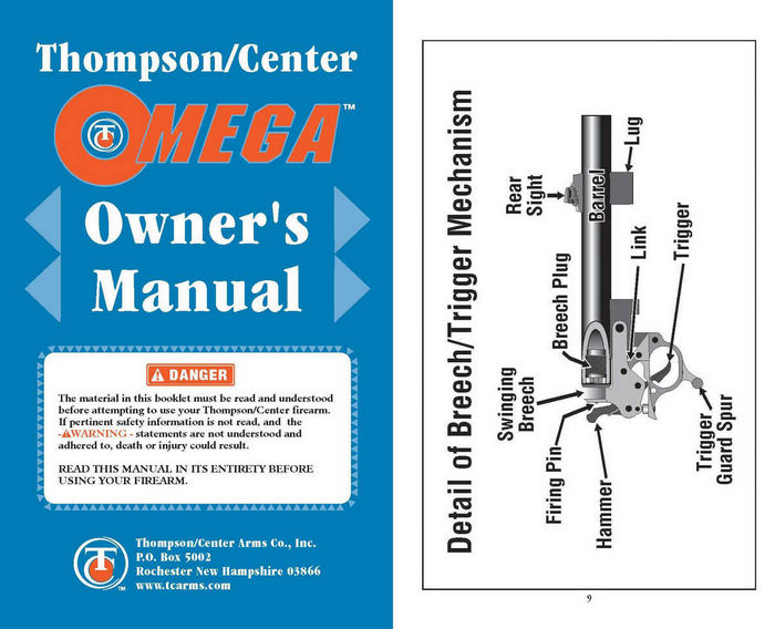 Thompson Center Omega Owner's Manual- Muzzle Loader
