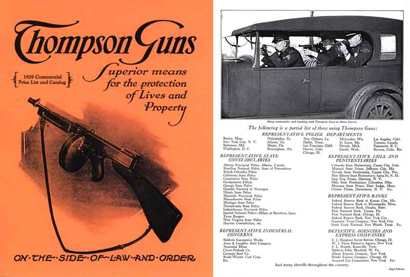 Thompson 1929 Guns- Price List & Catalog