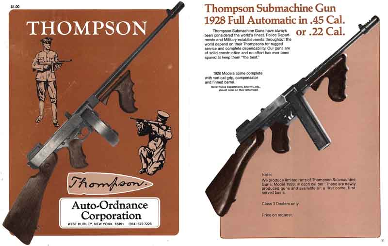 Auto Ordnance Corporation Catalog 1981 Thompson