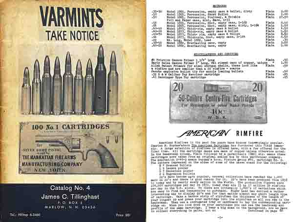 Tillinghast 1965 Collector Ammunition and Prices