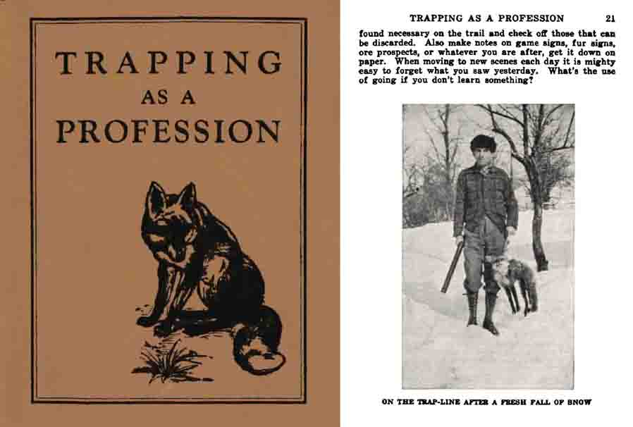 Trapping as a Profession 1922