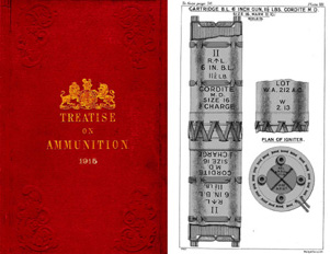 Treatise on Ammunition 1915 (B&W) 10th Edition London, England