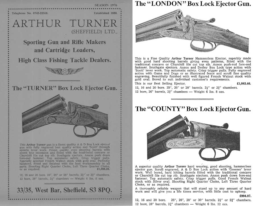 Arthur Turner 1976 Gun Catalog (UK)