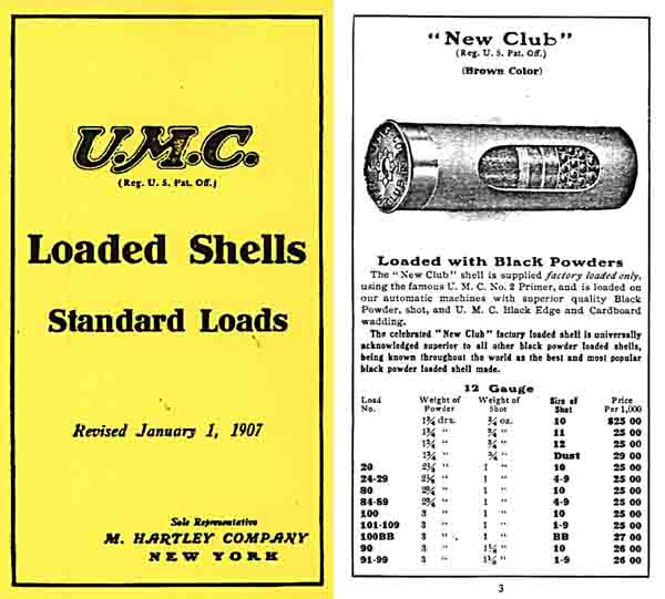 Union Metallic Cartridge Company (UMC) 1907 Shot Shell Catalog