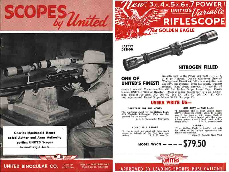 United Binocular Scopes 1958, Chicago, Illinois