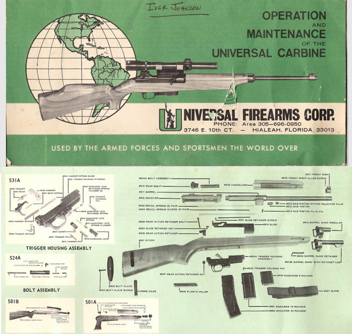 M1 Carbine (Universal) Operation and Maintenance- Manual