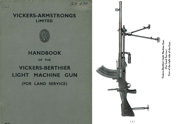 Vickers 1932c Berthier Land Use LMG-Light Machine Gun