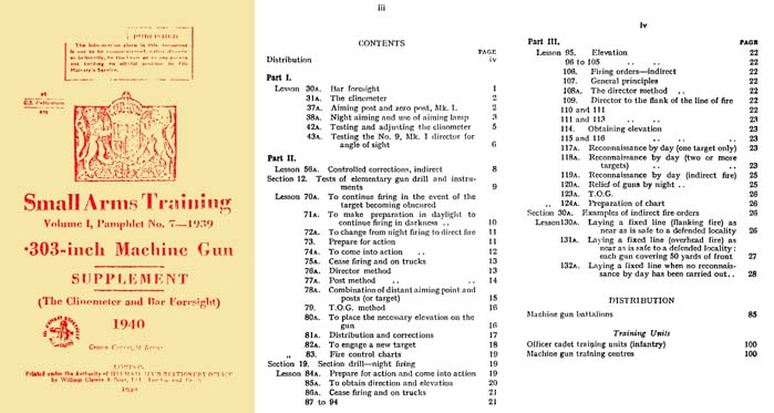 Vickers 1940 .303 Machine Gun Supplement Small Arms Training Vol 1 #7
