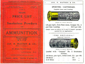 Watson, Jos. R. & Co. 1923 Ammunition Catalog (UK)