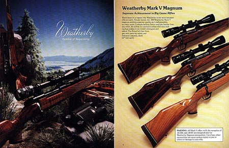 Weatherby 1982 Fine Firearms Catalog