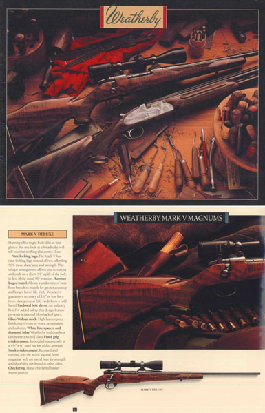 Weatherby 1987 Fine Firearms Catalog
