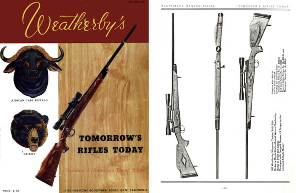 Weatherby 1953 Fine Firearms Catalog