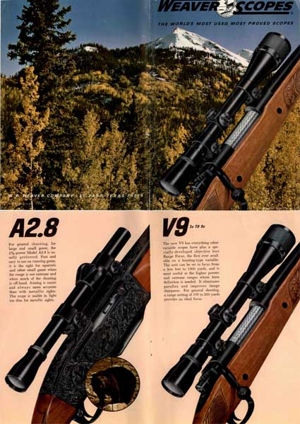 Weaver Scopes 1966 Catalog