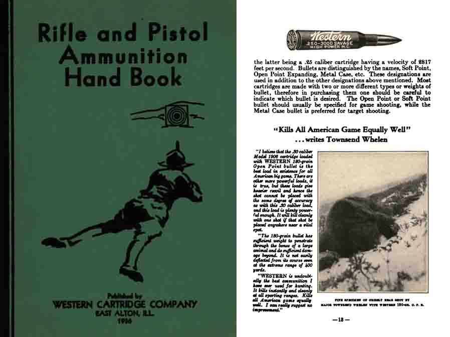 Western Cartridge Co. 1936 Rifle & Pistol Ammunition Handbook