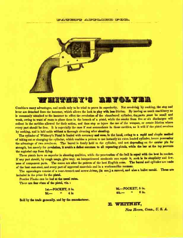 Whitney's 1859 Revolver Flyer