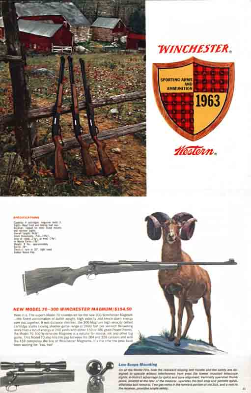 Winchester 1963 Guns & Ammunition Catalog