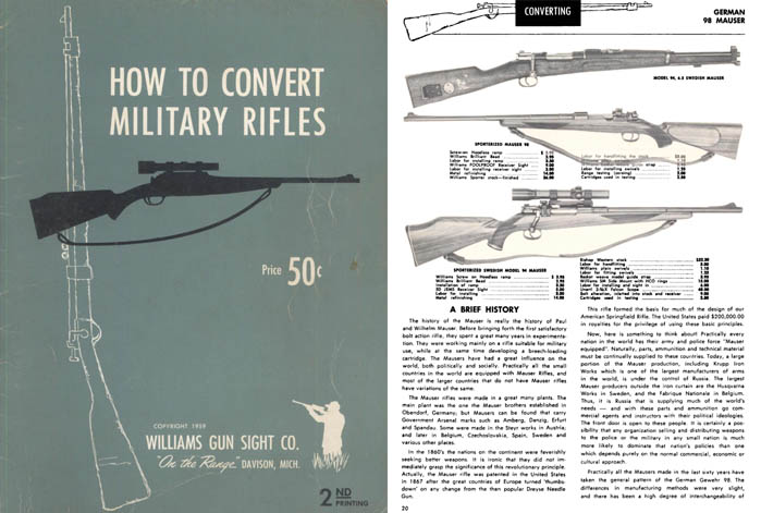 Military Rifles, How to Convert 1959 Williams Sight Co