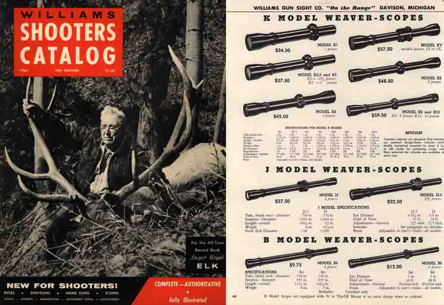 Williams 1961 Shooters Catalog, Davison, Michigan