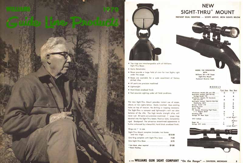 Williams 1970 Gun Scopes and Sights Catalog
