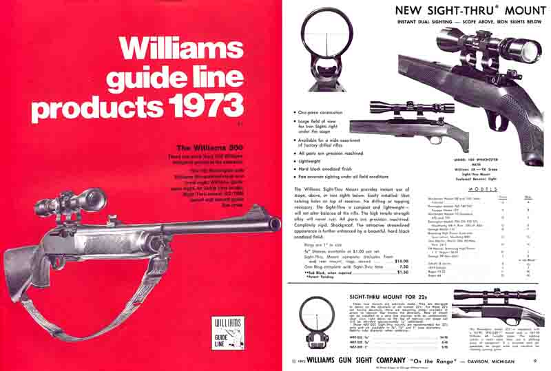 Williams 1973 Sight Company Catalog