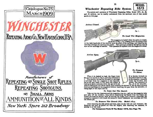 Winchester 1909 March Firearms Catalog