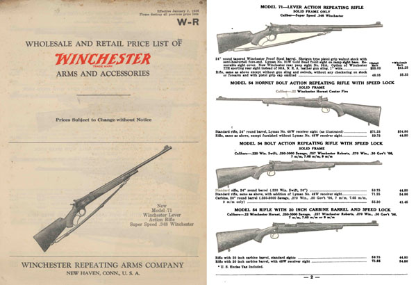 Winchester 1936 January Gun Catalog