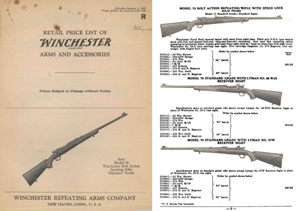 Winchester 1937 January Gun Catalog