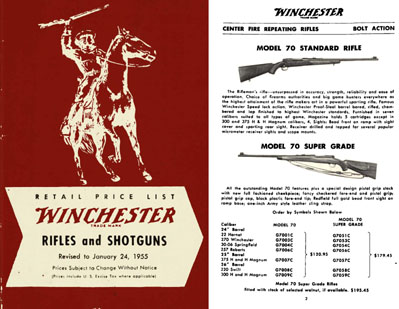 Winchester 1955 January Firearms Catalog