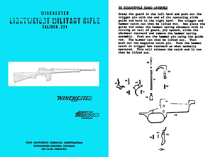 Winchester 1958 Lightweight Military Rifle cal .224