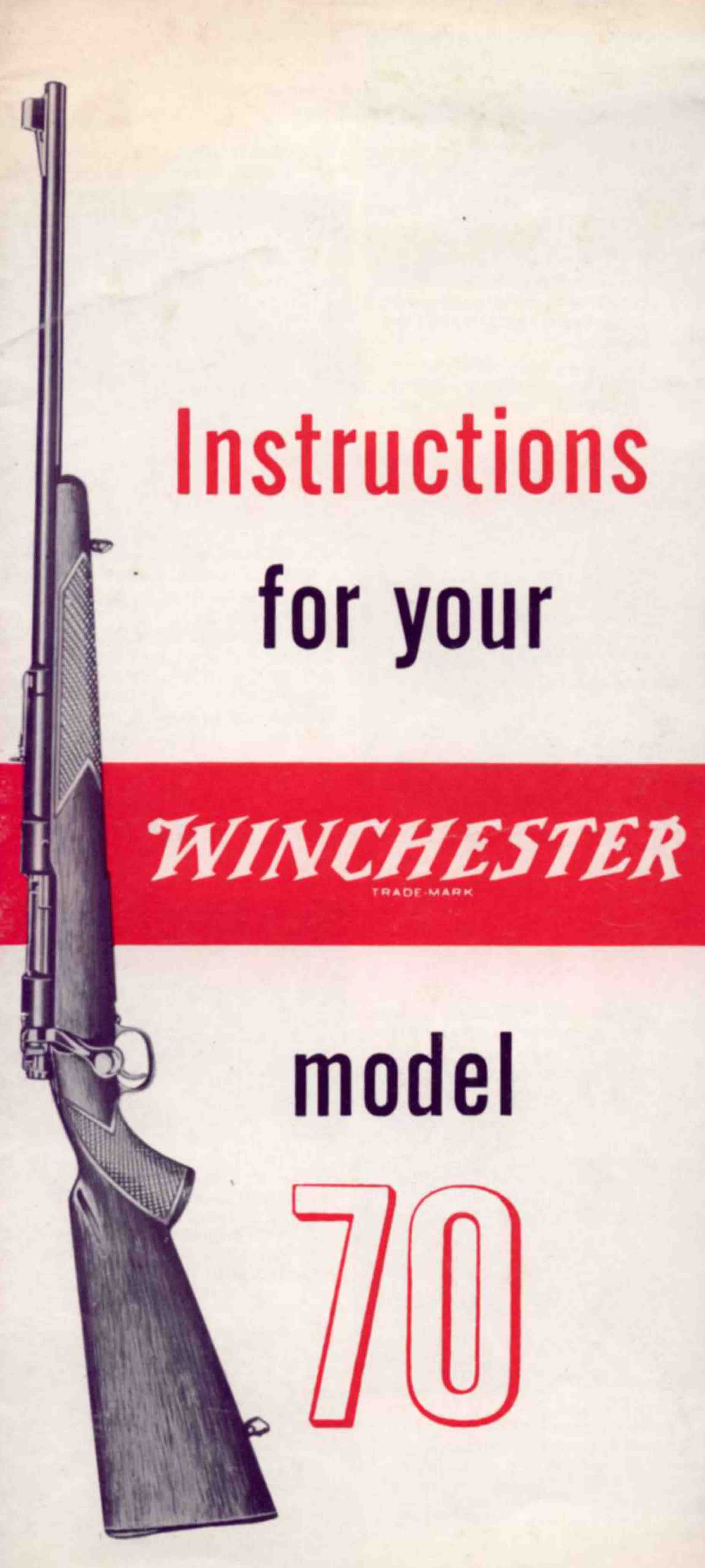 Winchester Model 70 Manual - PDF DOWNLOAD VERSION
