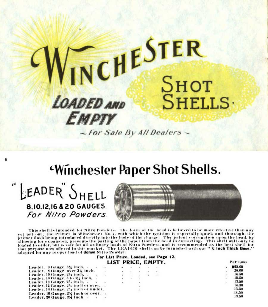 Winchester 1897 Shot Shells Catalog
