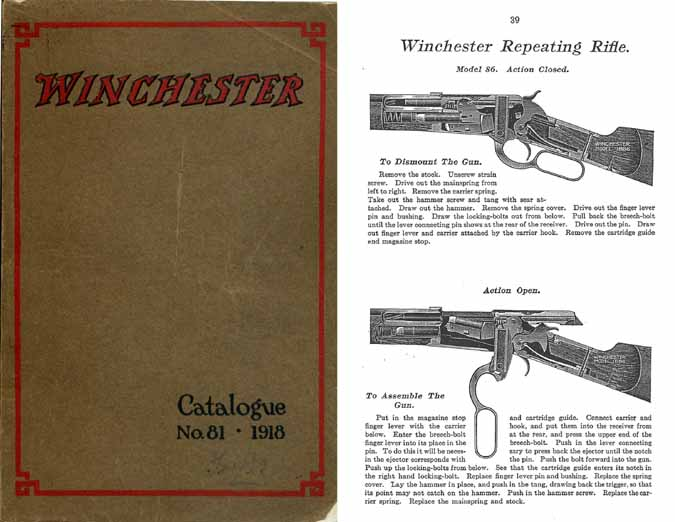 Winchester 1918 Catalogue No. 81