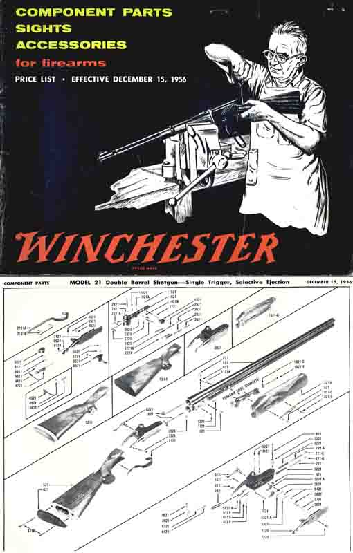 Winchester 1956 Component Parts Catalog