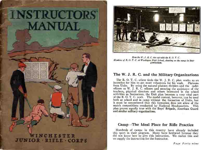 Winchester Junior Rifle Corps 1921, Instructors Manual
