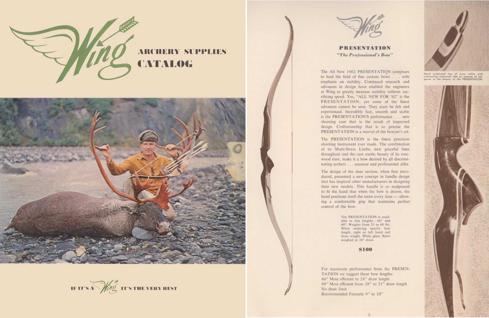 Wing Archery c1960 Catalog